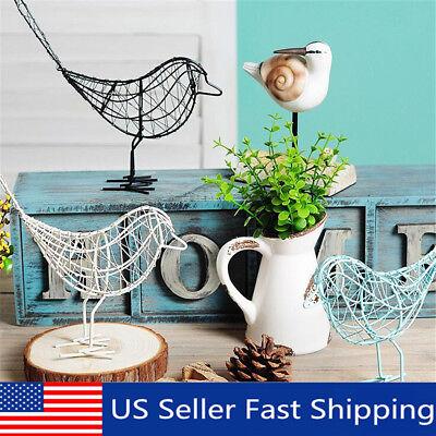 Metal Artificial Iron Wire Bird Home Office Desktop Ornament Art Craft Home & Garden