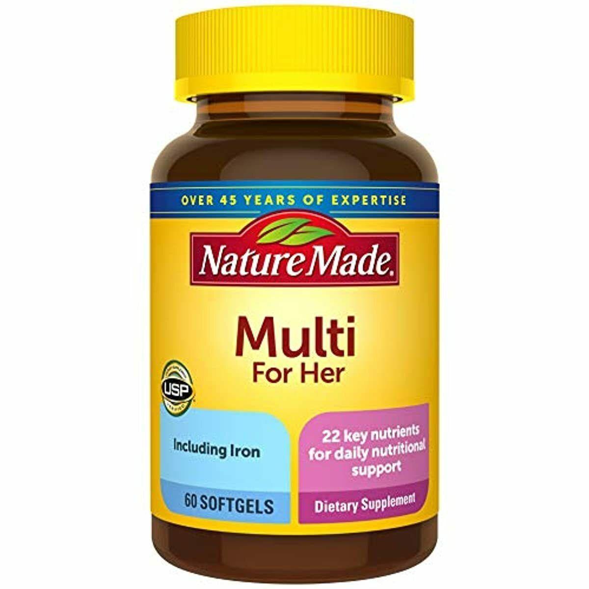 Nature Made Multi For Her Dietary Softgels Original Formula