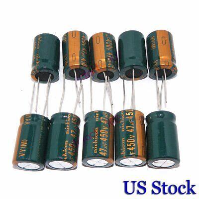 10pcs 450v 47uf Radial Electrolytic Capacitors Volume 47uf450v 16x25 Mm