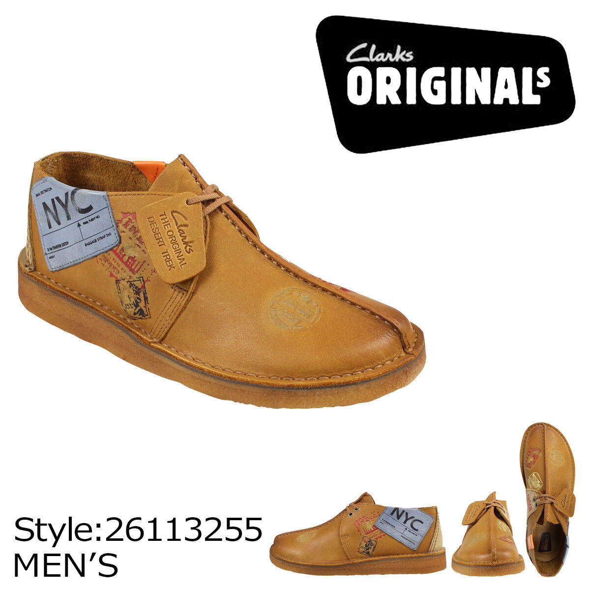 Clarks Originals Men Desert Travel Trek tan Seam Lea , NYC Limited Stock 1