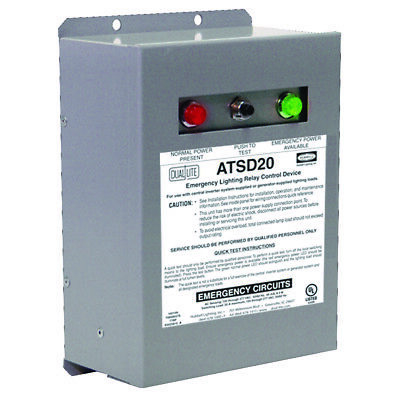 Hubbell Atsd20 Emergency Lighting Transfer Switch Device 20-amp 120277-volt