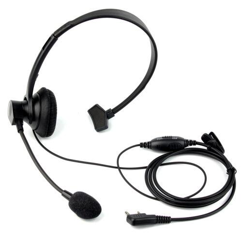 2pin Headset Earpiece Ptt Mic For Retevis Kenwood Baofeng Wouxun