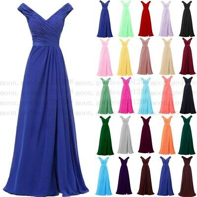 Long Chiffon Wedding Evening Formal Party Ball Gown Prom Bridesmaid Dress 6-26 Chiffon Formal Evening Dress