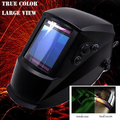 True Color 4x3.7 View 2in1 Grind Welding Helmet Tig Welder Mig Gun Parts
