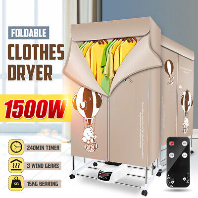 1500W Foldable Electric Clothing Clothes Dryer Drying Heater Machine Portable for sale  Shipping to Nigeria