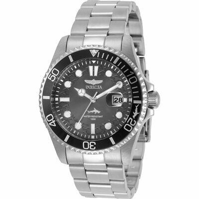 Invicta Men's Watch Pro Diver Quartz Gunmetal Dial Silver Tone Bracelet 30806