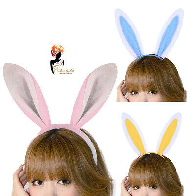 BUNNY EARS HEADBAND Fancy Dress Costume Hen Party Rabbit Easter Child Adult UK (Batgirl Costume Uk)