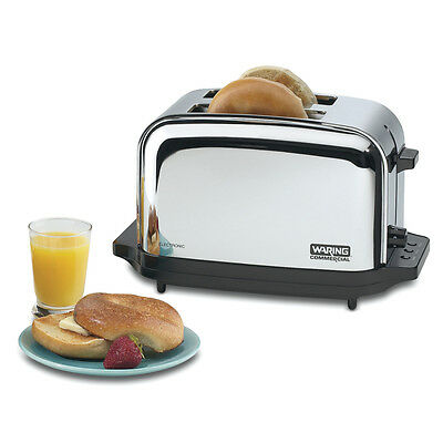 Waring WCT702 Chrome 2 Slice Commercial Toaster w/ Two 1-3/8in Slots