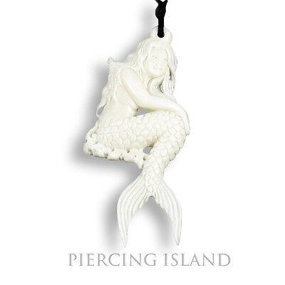Jungen Knochen (Nixe Mermaid Meerjungfrau Amulett Anhänger Kette Bone Knochen PB290)