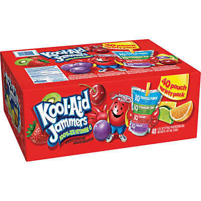 Kool-Aid Jammers Juice Pouch Variety Pack 6 fl oz 40-count