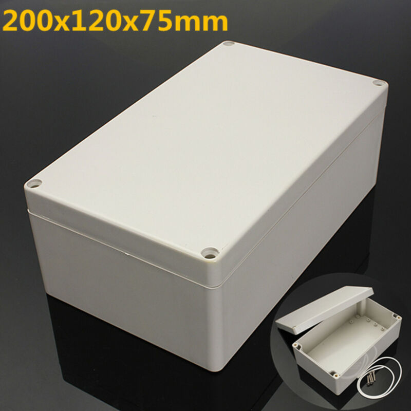 200x120x75mm ABS ELECTRONICS ENCLOSURE PROJECT BOX HOBBY CASE SCREW WATERPROOF