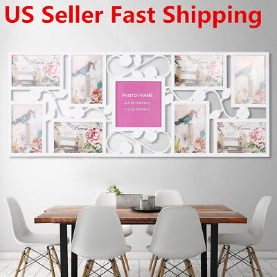 9 Images Picture Display Rose Aperture Wall Decor Photo Frame Collage Decor Gift