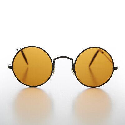 Rund Schwarz Farbig Gläser John Lennon Vintage Sonnenbrille - Euro