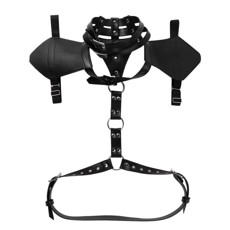 Mens Sexy Body Chest Harness Adjustable Restrain Belt Clubwear