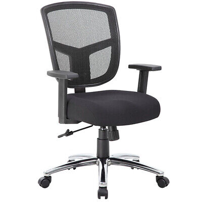 Modern Mesh Back Conference Chairs Mid Back With Chrome Base Conference Room