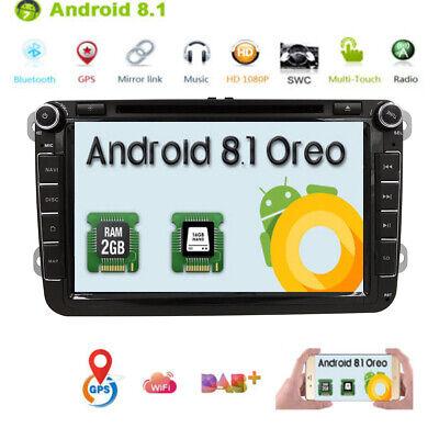 "8"" Android 8.1 Car DVD Radio Stereo GPS Multimedia for VW Passat B6 Golf Tiguan segunda mano  Embacar hacia Argentina"