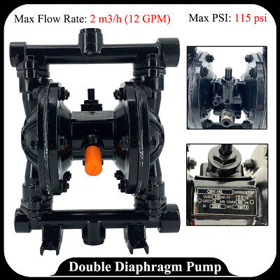 12gpm Double Diaphragm Membrane Pump Air-operated 12inlet Outlet Industrial