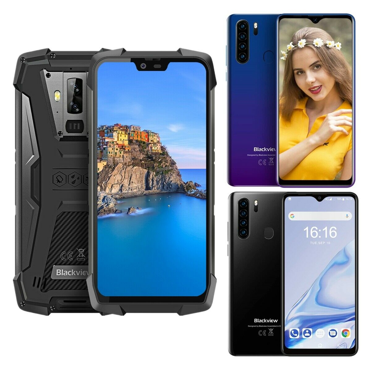 Android Phone - Blackview BV9700 Pro A80 Pro Android 9.0 Smartphone 4G Mobile Phone Dual SIM