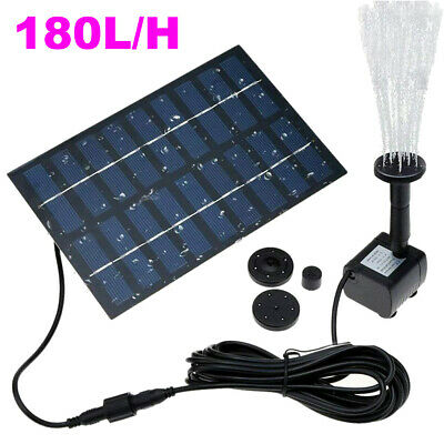 180L/H Solar Water Panel Power Fountain Pump Garden Pond Watering Submersible