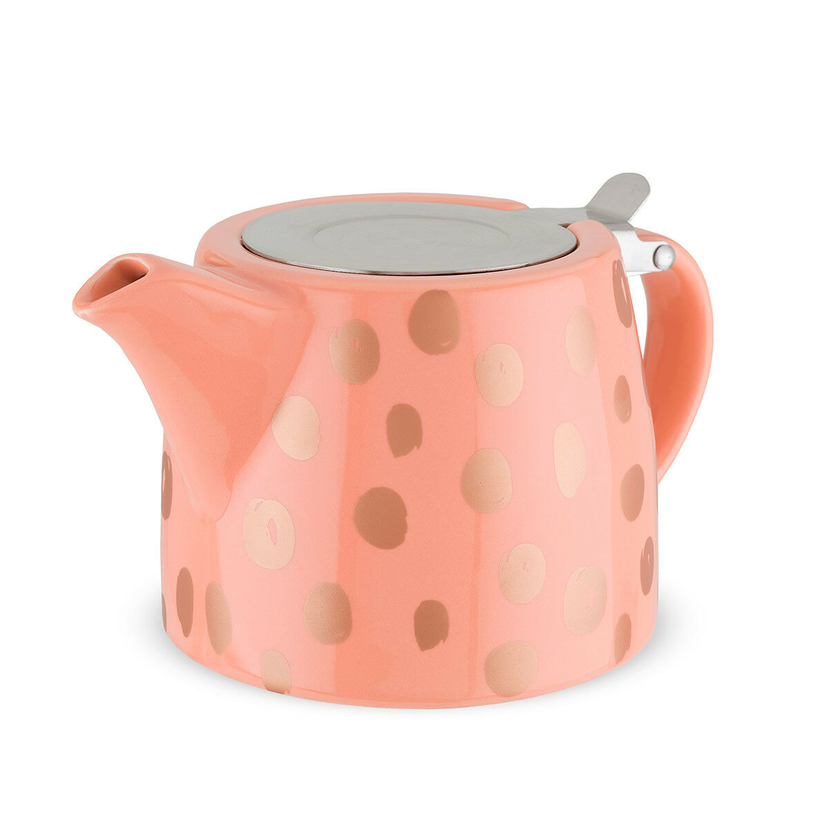 NIB Pinky Up Harper Ceramic Teapot & Infuser 20oz  - Peach w
