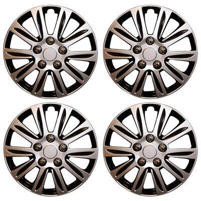 "15"" Combo Corsa Astra Connect Van Wheel Trims Hub Caps Black & Silver Covers x4"