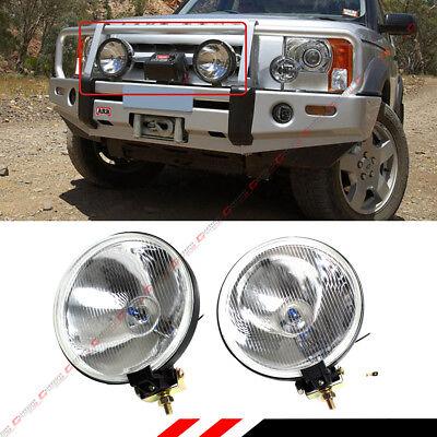 Fog Light Lens Guard (7'' ROUND CLEAR LENS CHROME OFFROAD BULL GUARD FOG LIGHT W/ SWITCH+WIRING+BULBS )