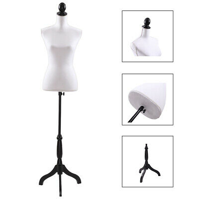 Female Mannequin Torso Clothing Dress Form Shop Display With Black Tripod Stand