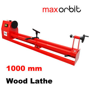 350x1000mm 1/2HP Wood Lathe 240V Industrial 4 Speeds Workshop Bench Woodworking