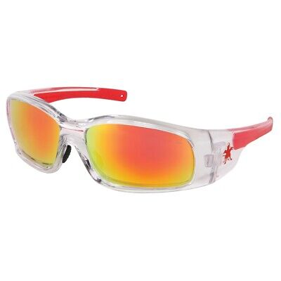 Mcr Safetycrews Sr14r Clear Frame - Redorange Mirror Safety Glasses