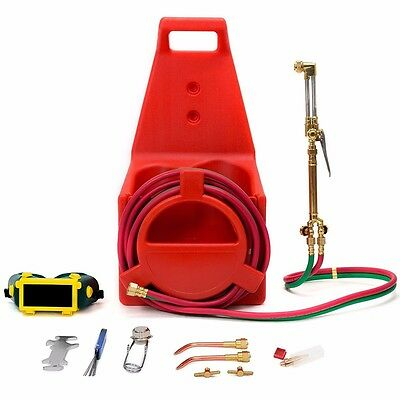 Portable Victor Type Welding Cutting Torch Kit Oxygen Acetylene Tote Carrier