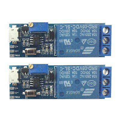 2 Pcs Wide Voltage 5v30v Trigger Delay Relay Module Timer Module