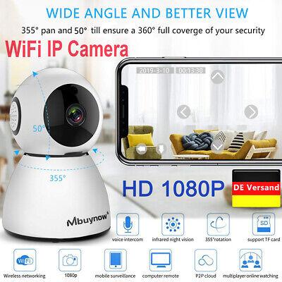 WLAN IP Kamera HD 1080P Überwachungskamera Webcam Nachtsicht Home Baby Monitor (Hd Kamera Webcam)