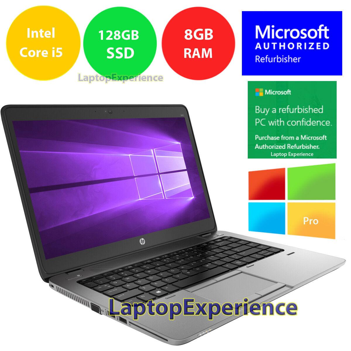 Laptop Windows - HP LAPTOP 840 G1 ELITEBOOK WINDOWS 10 PRO WIN INTEL i5 WEBCAM WiFi 8GB 128GB SSD