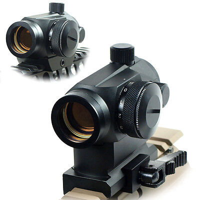 Quick Release Tactical Reflex Red Green Dot Sight Scope With Dual Rail Mounts