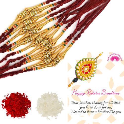 Assorted Design Rakhi Indian Festival Stylish Bracelet Rakhi For Brother 12 Pcs