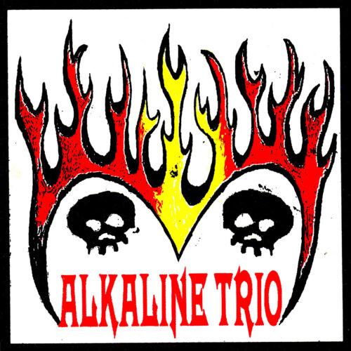 ALKALINE TRIO rare 4 x 4 inch vinyl screen printed sticker / decal PUNK