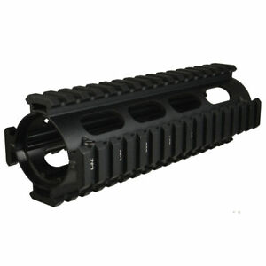 Quad Rail Handguard, 6.75 inch, Carbine Length, 2 Piece Drop-In, Picatinny
