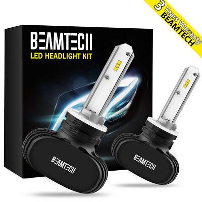 BEAMTECH LED HEADLIGHT FOG LIGHT BULBS KIT 880 881 893 899 CSP 6500K WHITE LIGHT