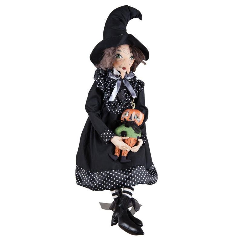 Joe Spencer - Rosalea Witch w Pumpkin Head Halloween Doll - FGS72590