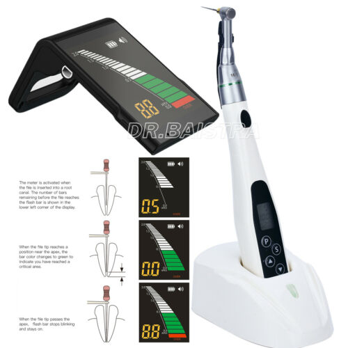 KIT Dental Root Canal Apex Locator + LED Mini Endo Motor 16:1 Contra Angle