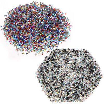1440Pcs 3mm SS10 16 Iron On Hotfix Rhinestones Clear AB Beads Garment Accessory ()