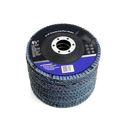 Premium Zirc Flap Disc Sanding Grinding Cutting 4.5 X 78 40 Se Grit Pack 10