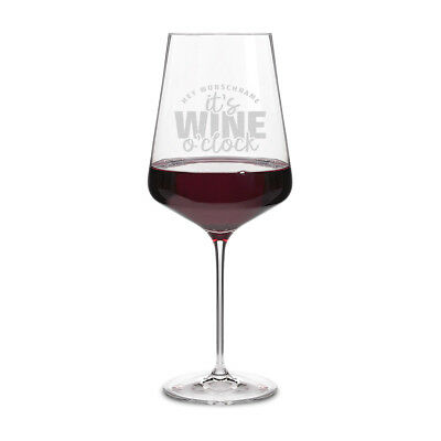 Leonardo Rotweinglas XXL 750 ml individuelle Gravur Weinglas - Wine o'clock