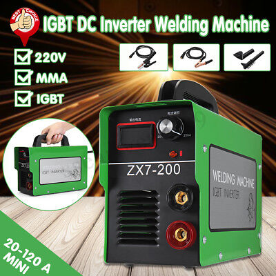 Zx7-200 Portable Igbt Dc Inverter Welder Mmastick Welding Machine 220v Digital
