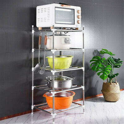 5-Tier Wire Shelving s Stainless Steel Shelf Kitchen Storage Organizer