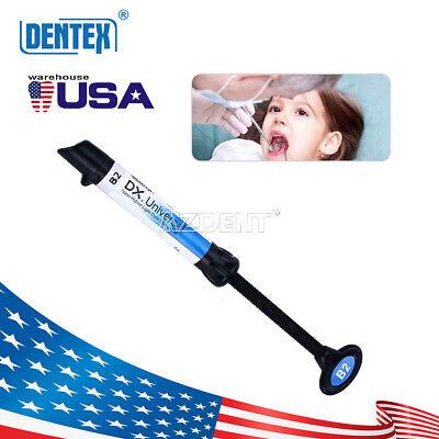 Dental Light Curing B2 Shade Composite Resin Syringe Universal Refill 4g Dentex