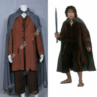 The Lord of the Rings Cosplay Frodo Baggins Costume Cape Coat Full set uniform - Frodo Lord Of The Rings Costume