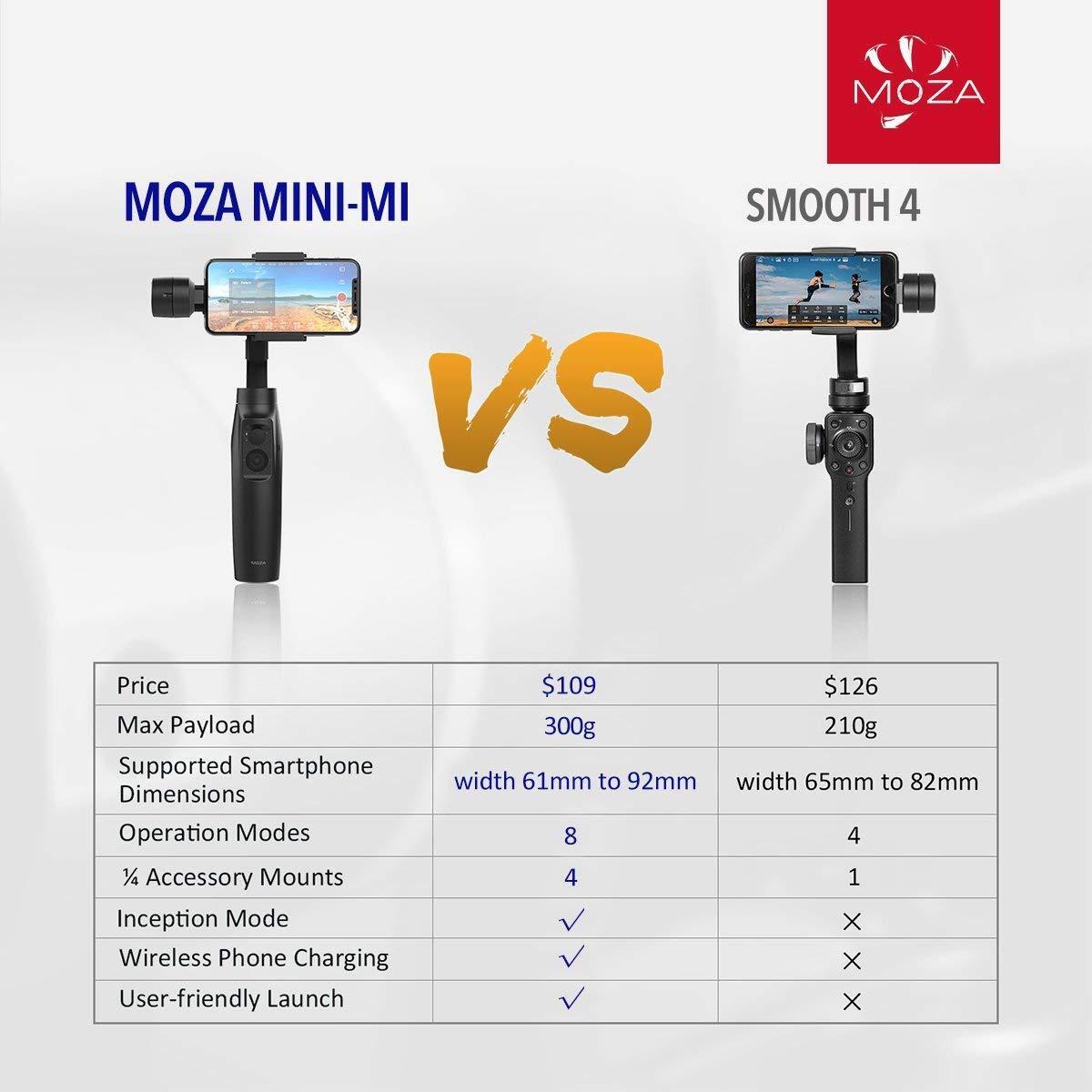 Zhiyun Smooth 4/Q Killer MOZA Mini-MI 3 Axis Smartphone Gimbal Stabilizer