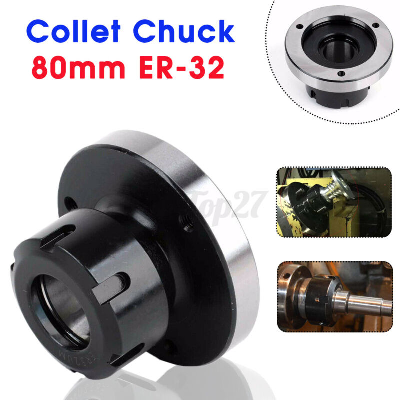80mm ER-32 Collet Chuck 3901-5032 Bearing Steel Compact Lathe Tight Toleran