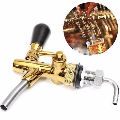 Flow Controller Draft Beer Faucet Tap G58 Chrome Gold Plating Shank Kegerator